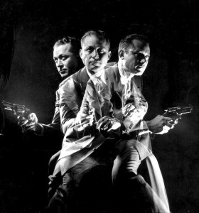 FBI Agent Del Bryce by Light Painting Photographer Gjon Mili