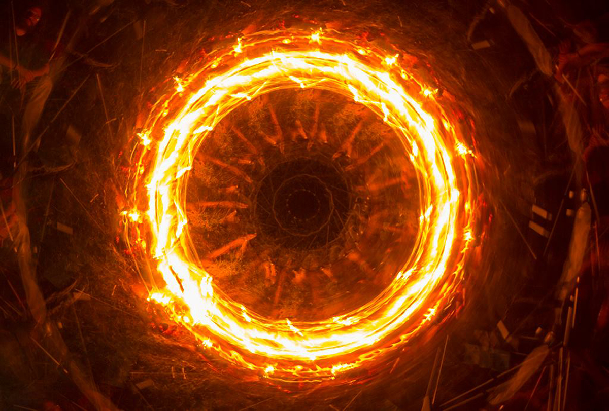 Light Painting Guinness World Record Fire Rotation