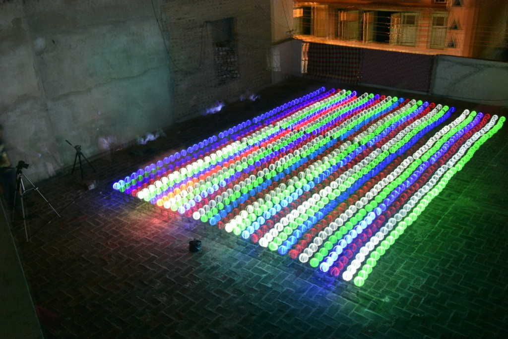 Light Painting World Record 1500 orbs postion 2