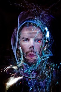 Light Painting Portrait by Aurora Crowley
