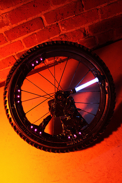 Bike Parts for DIY Light Painting Tool