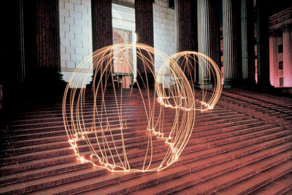 Light Painting by Eric Staller Domes