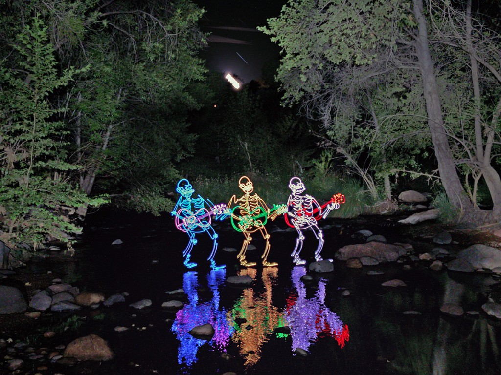 Darren Pearson Light Painting Sleleton Creek Trio