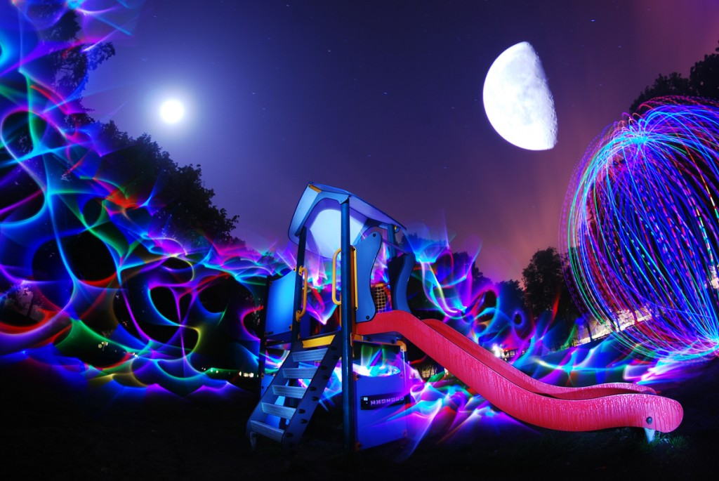 Light Painting Lens Swap James Deluna-Moon