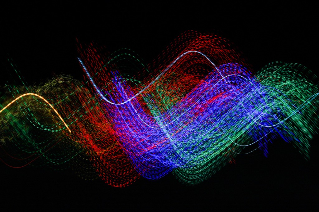 Light Painting Dan Bennett 018, A group of LED-festooned Christmas Trees