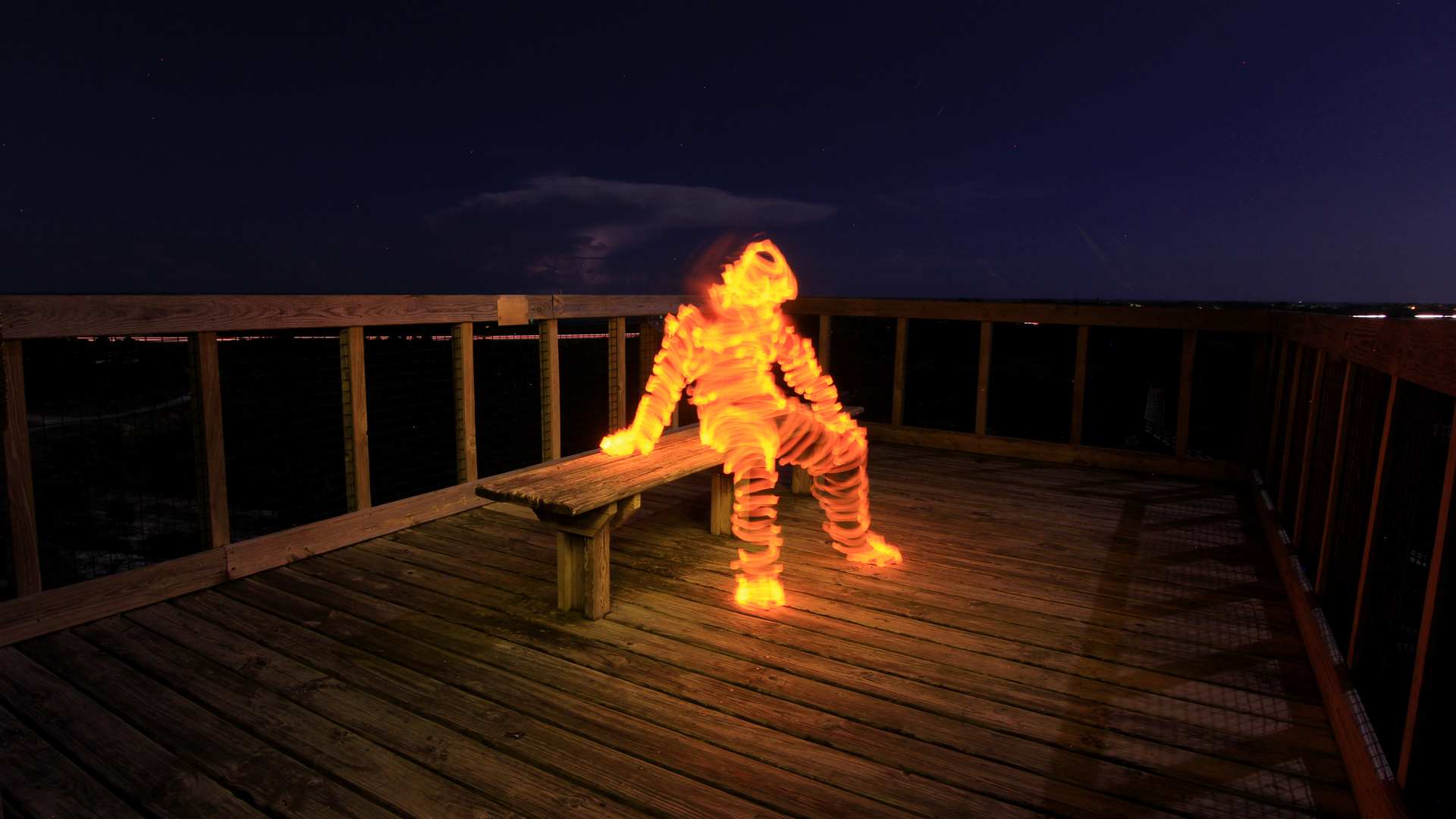How To Light Paint A Man