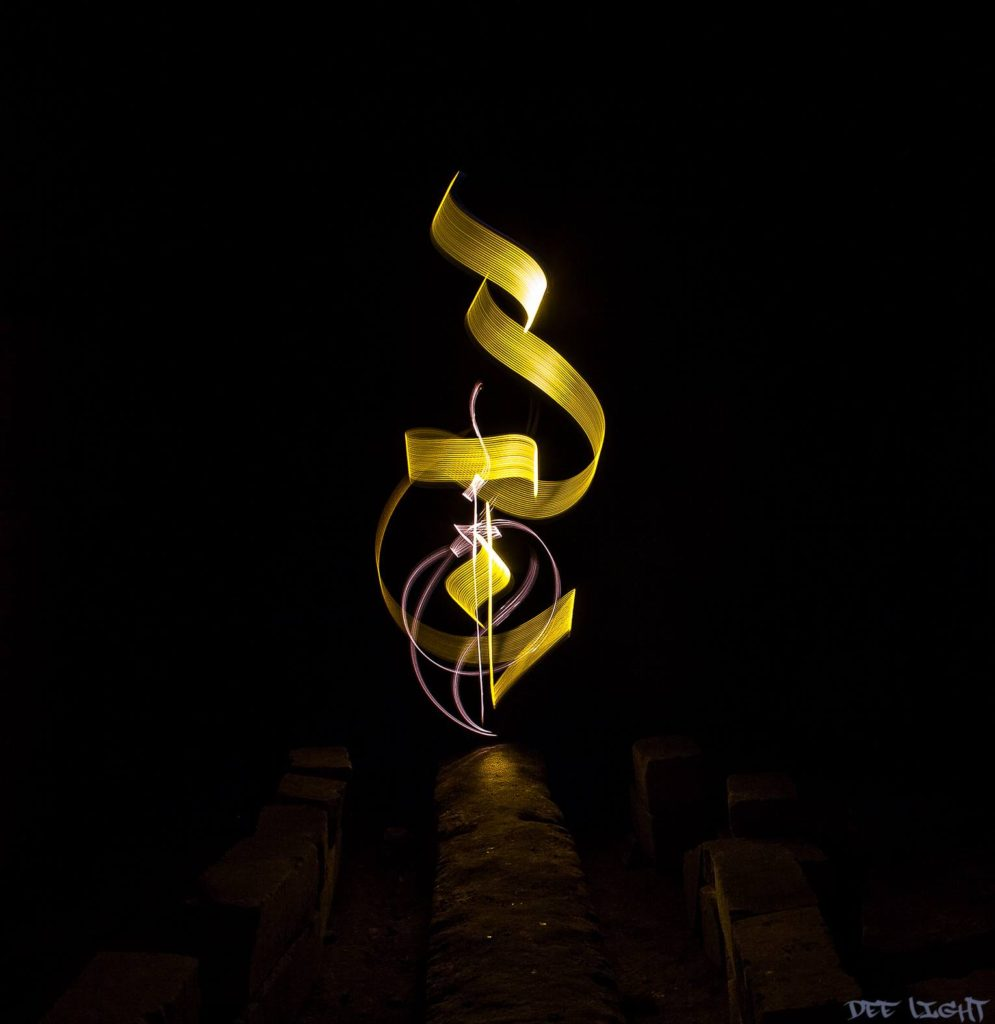 Light Painting Calligraphy by Dee Light