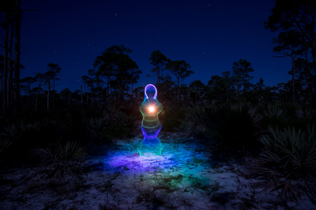 Light Painting Rainbow Ghost