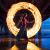 Light Painting with Fire by Zach Alan