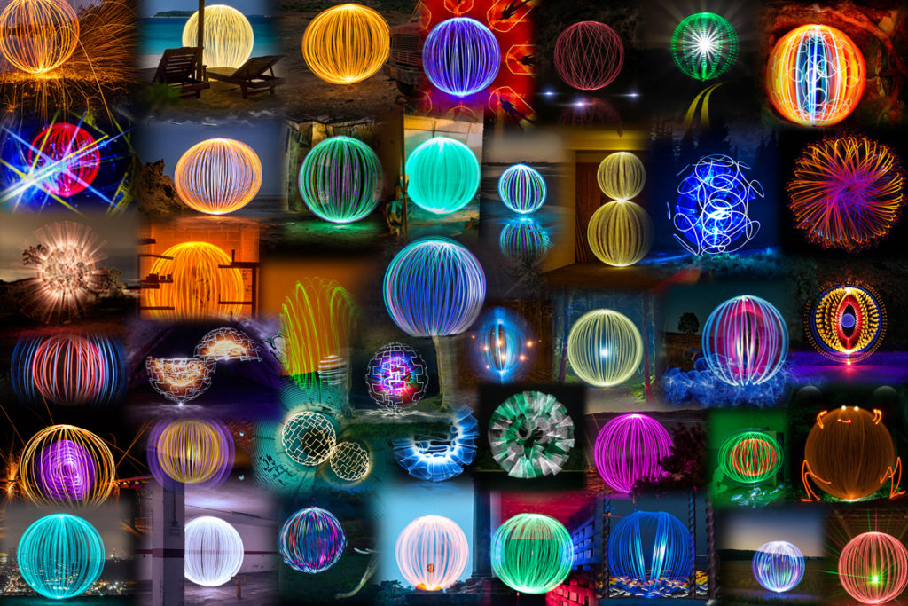 Light Painting Orb Contest Entries