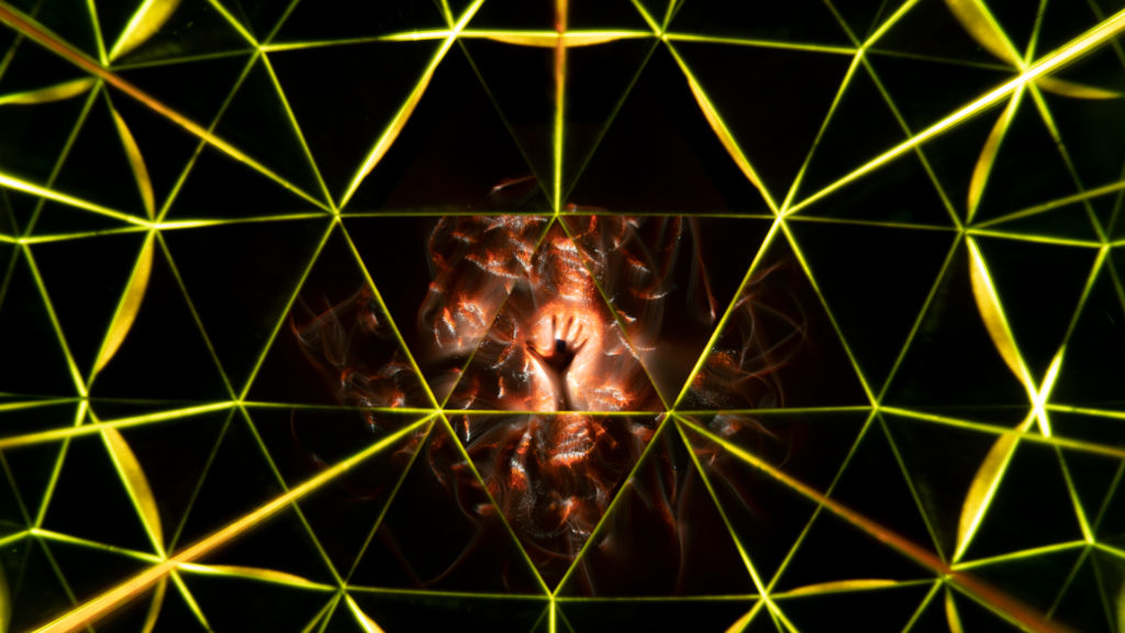 Light Painting with a Kaleidoscope