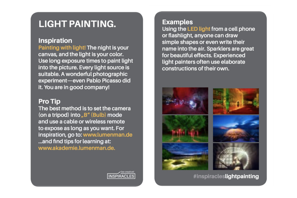 Light Painting Card