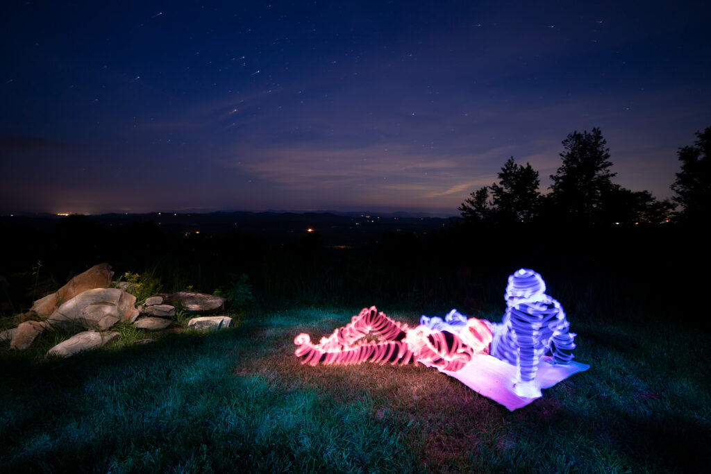 Light Painting Under the Stars