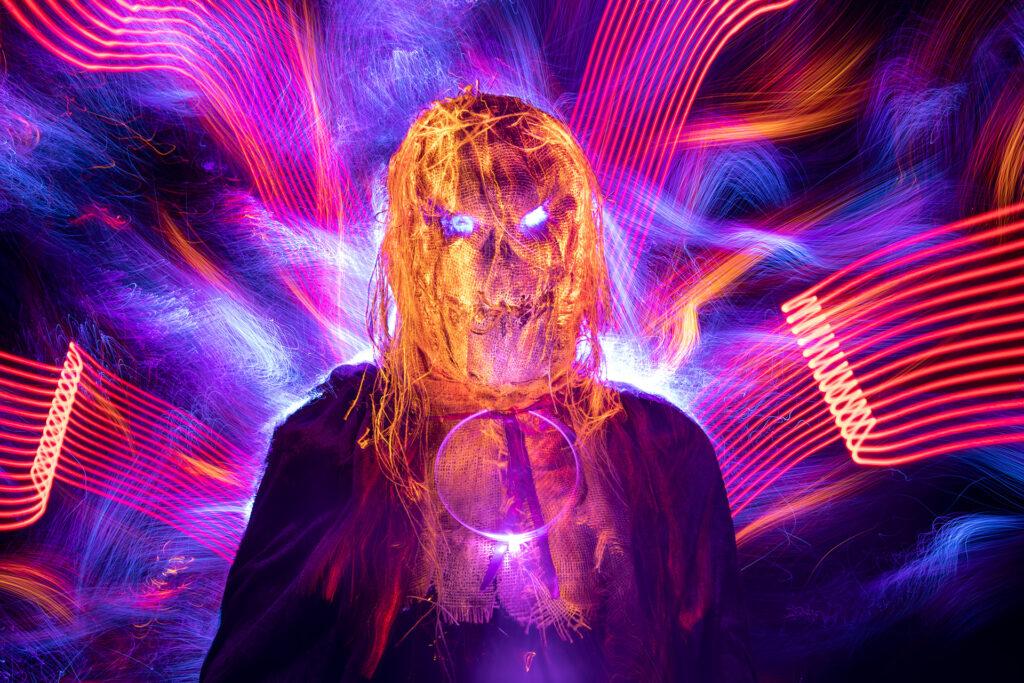 Light Painting a Halloween Mask